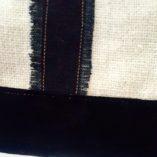 sac la poste lin coton noir 6