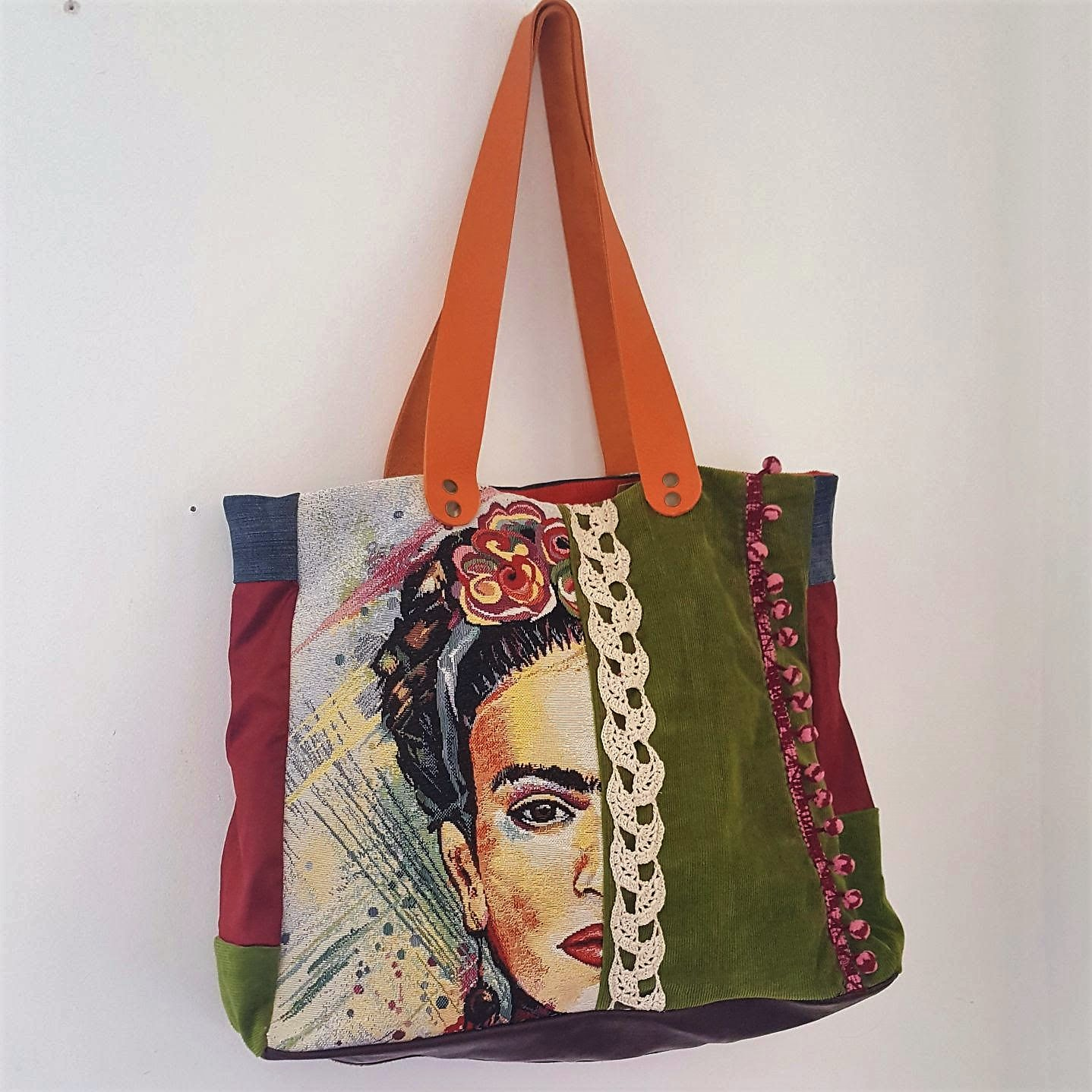 GRAND SAC VINTAGE FRIDA KHALO PIECE UNIQUE