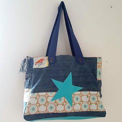 sac étoilé bohême chic turquoise 4