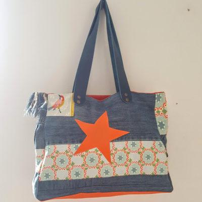 sac étoilé bohême orange 2