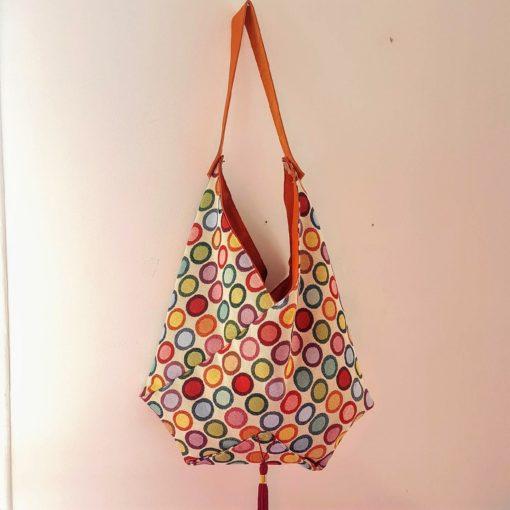 sac origami multicolore