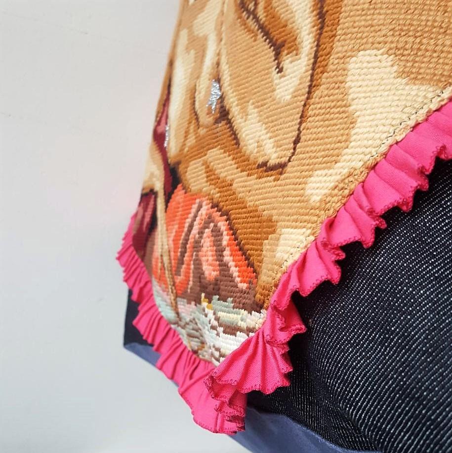 sac canevas nu vintage
