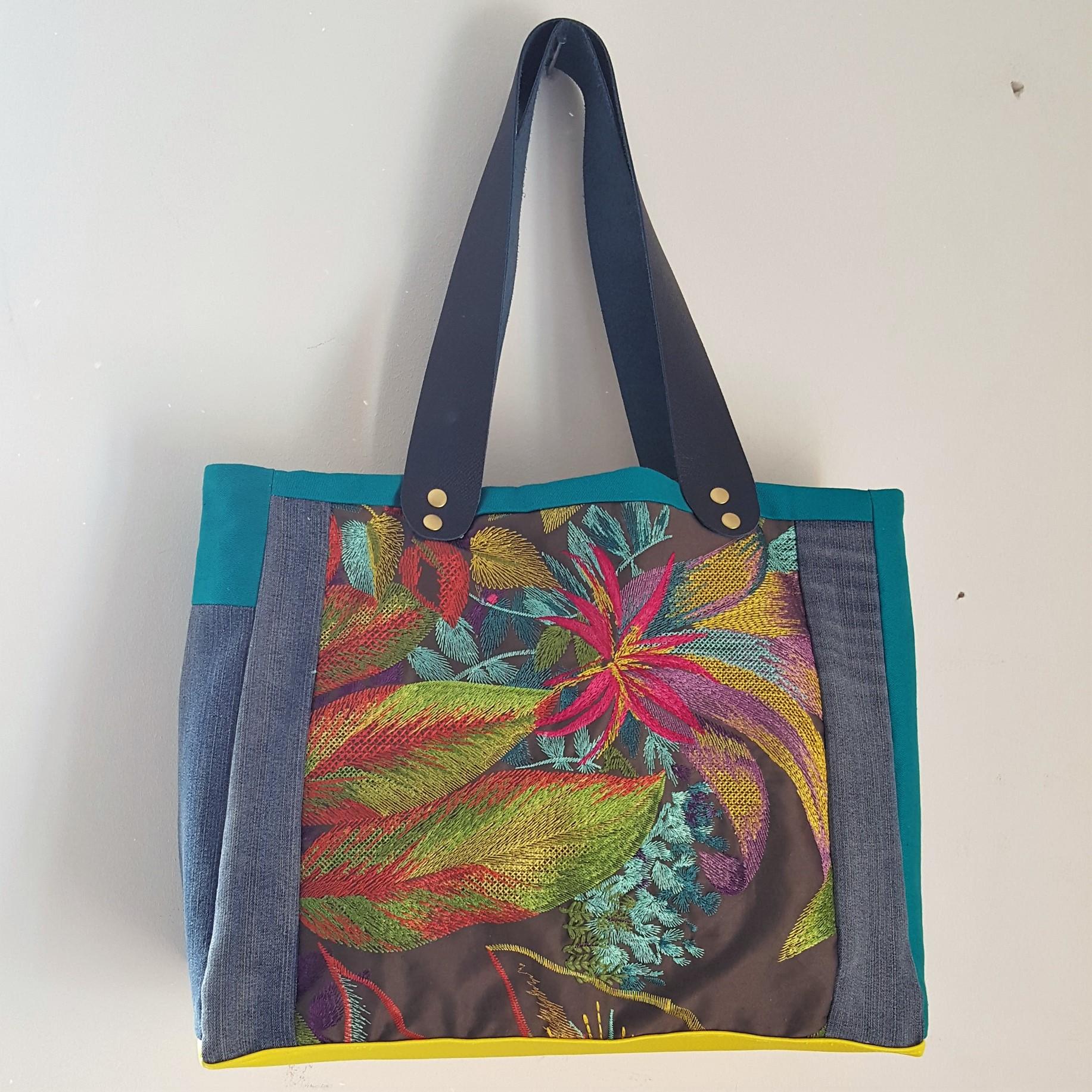 sac multicolore brodé loudenella