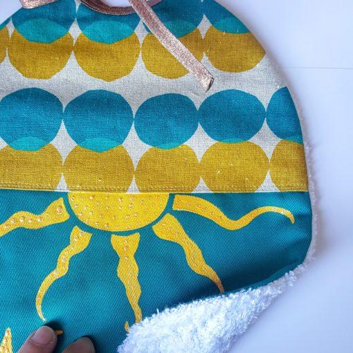 bavoir lin coton peint main