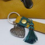 porte-clef cuir safran