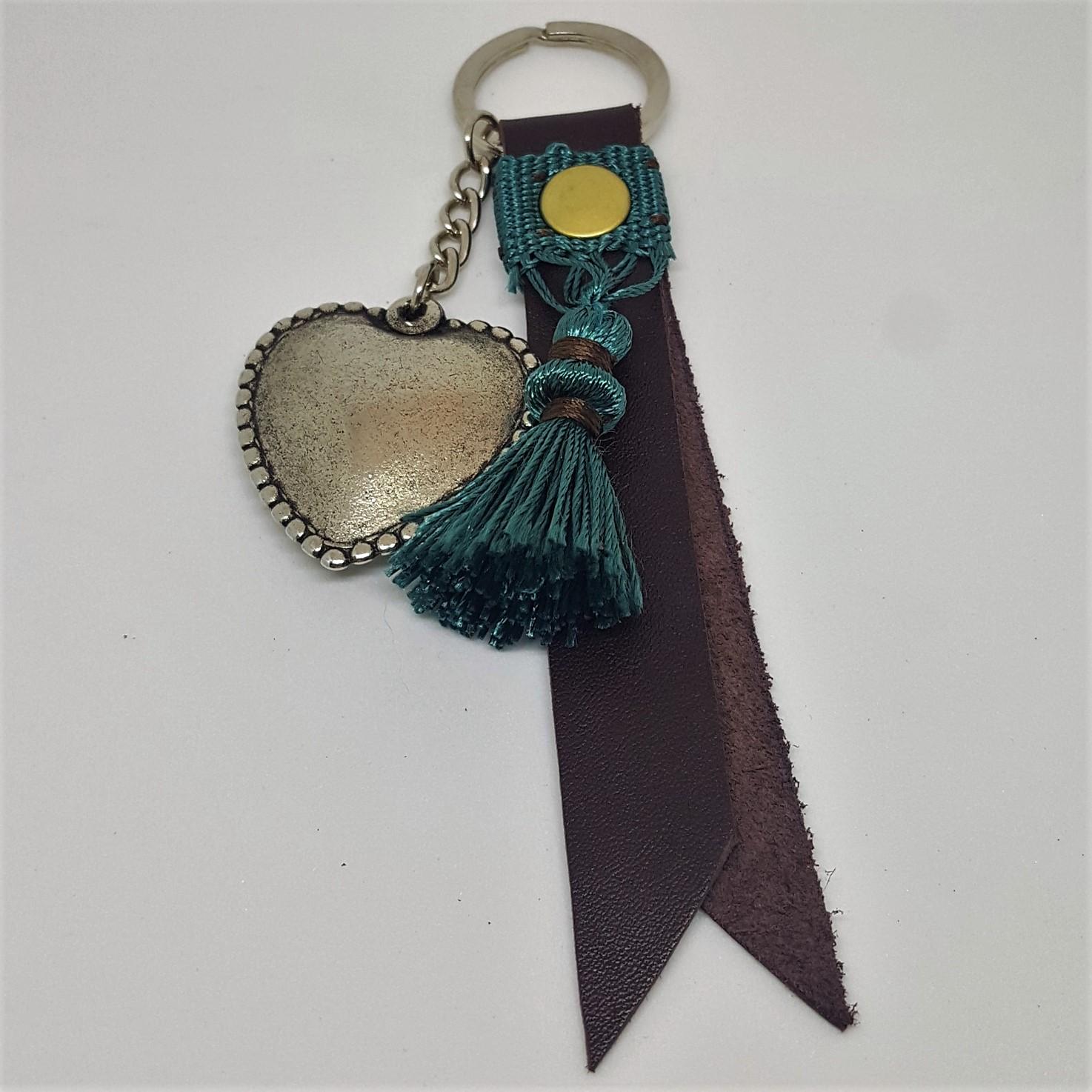 porte clef marron foncé