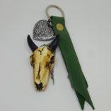 porte-clef buffle-cuir vert