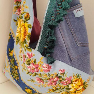 sac origami flower vintage