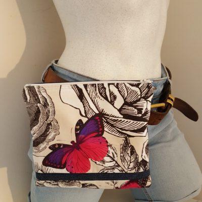 pochette à ceinture papillon ROSE+VIOLET