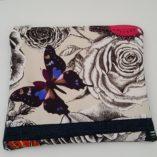 pochette à ceinture papillon violet