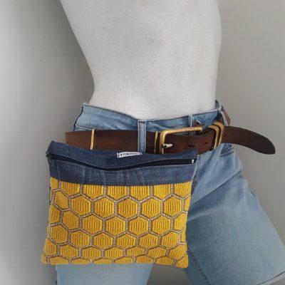 sac ceinture jaune