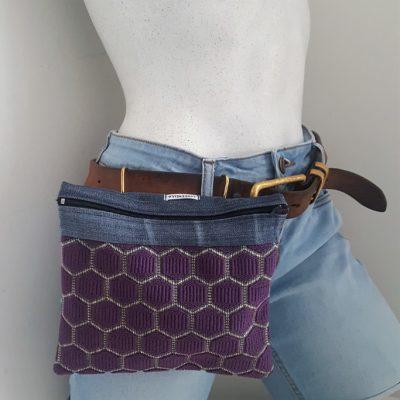 sac ceinture violet