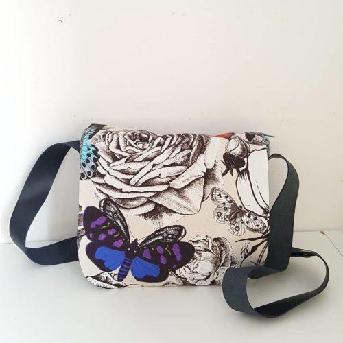 sac besace butterfly garden violet