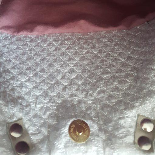 sac à main flamant rose-argent
