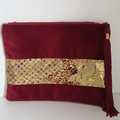 clutch-pochette-velours-wax