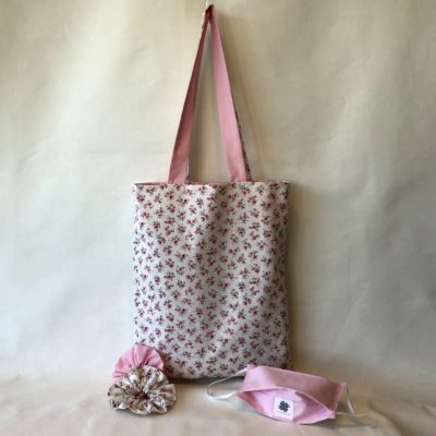 Tote Bag Pink-Flower
