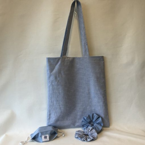 Tote Bag Vichy-Blue