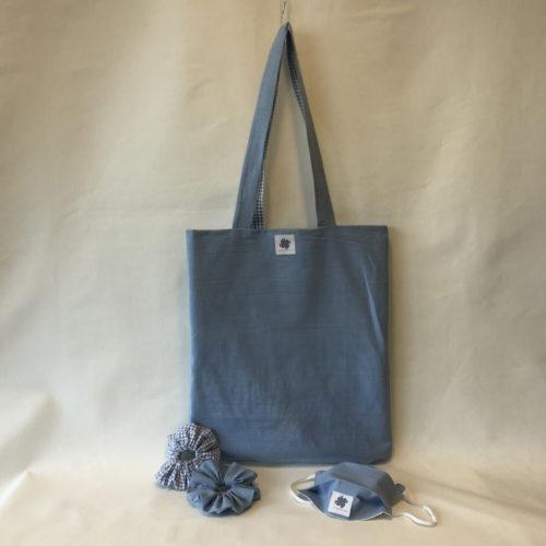 Tote Bag Vichy-Blue