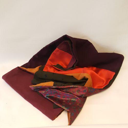 écharpe patchwork soie sari