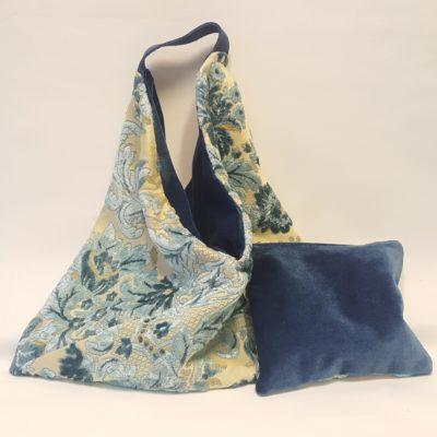 sac origami réversible bleu glacier