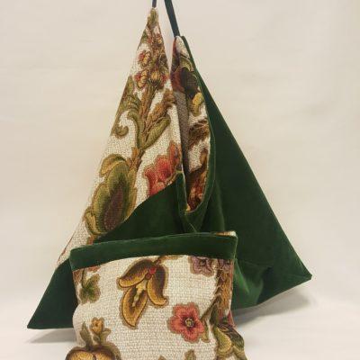 sac origami vert-vintage