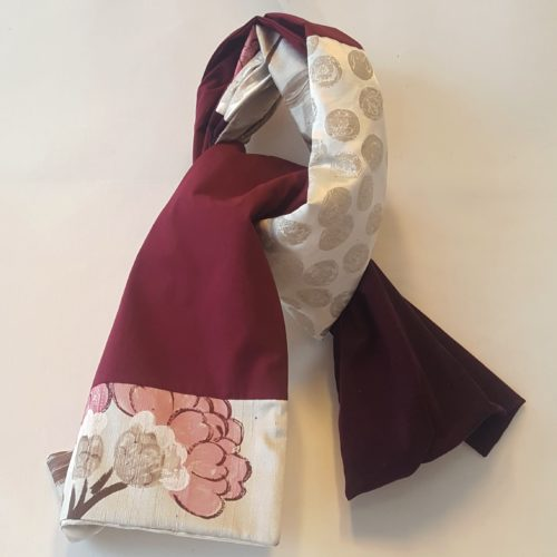 écharpe velours soie et lin loudenella