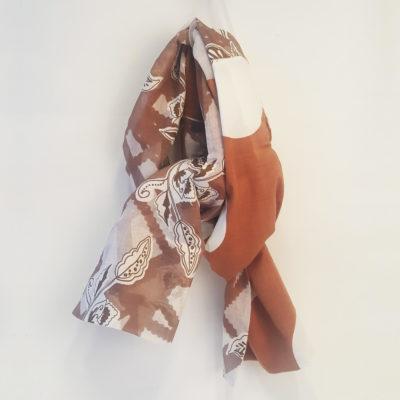 écharpe camel patchwork les enchanteuses loudenella
