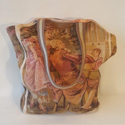 sac capsule tapisserie ancienne